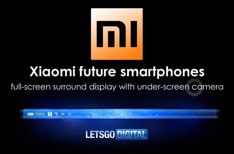 Новый патент показывает особенности смартфона Xiaomi без камер и рамок