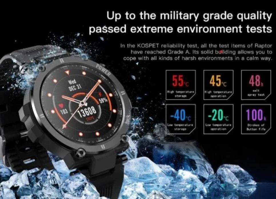 Kospet Raptor: защищенные умные часы с автономностью до 30 дней