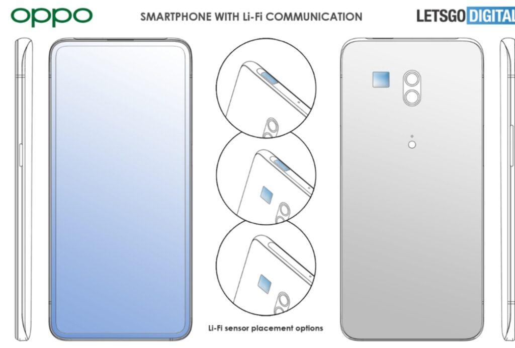 OPPO патентует смартфон с технологией Li-Fi, которая намного быстрее, чем Wi-Fi