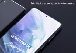 Смартфон Samsung Galaxy с невидимой камерой для селфи