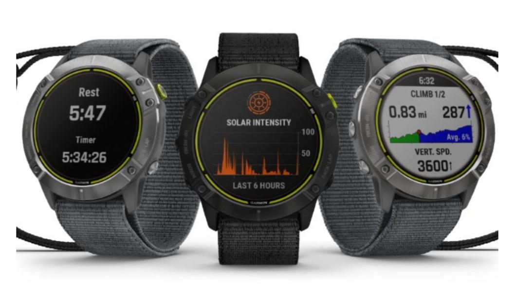 Последние умные часы Garmin рассчитаны на работу до 80 дней с солнечной зарядкой