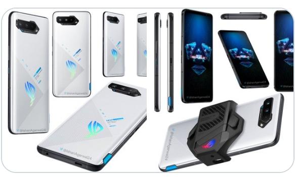 Последние рендеры ROG Phone 5 демонстрируют некоторые стильные изменения, в том числе новый вариант белого цвета