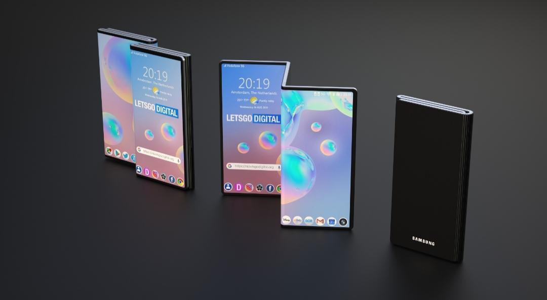 """""""Гормошка"""" от Samsung, новый складывающийся смартфон"""