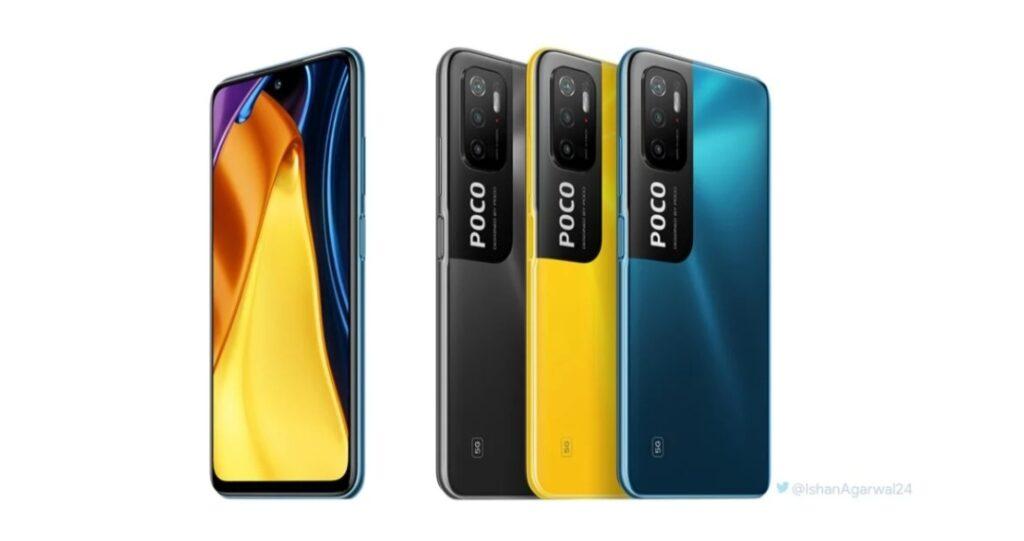 Рендеры POCO M3 Pro 5G просочились перед запуском 19 мая, доступны в трех цветах